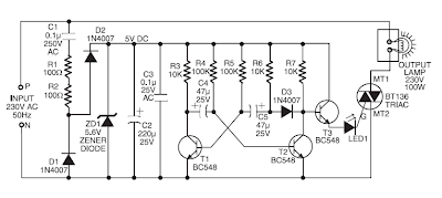 Schematic & Wiring Diagram: 220V AC Operated Christmas