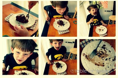 Chocolate Angel Food Cake #SundaySupper