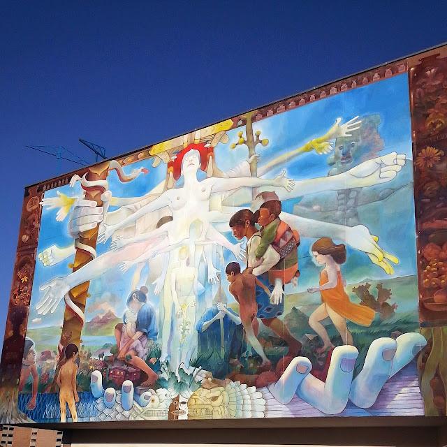 """Similia Similibus Curentur"" New Street Art Mural By Mexican Artist Dhear in Mexico DF. 4"
