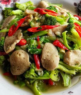 Ide Resep Masak Sayur Tumis Brokoli Labu Bakso