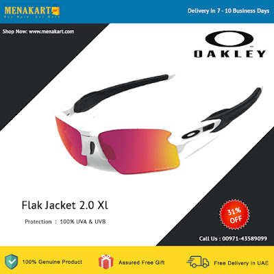 Oakley Flak Jacket 2.0 Xl White With Prizm Baseball Lens Sunglasses
