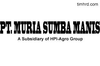 Lowongan Kerja Resmi PT. Muria Sumba Manis (HPI-Agro Group) Maret 2019
