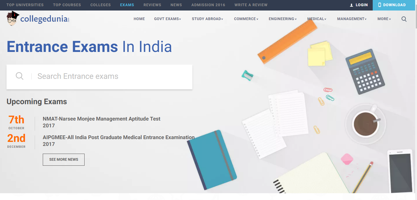Top Entrance Exams in India and Preparation Plan