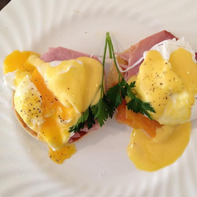 Eggs Benedict at Bettys in Harrogate