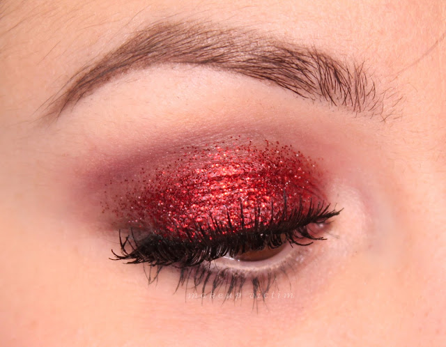 Red Glitter Face Paint