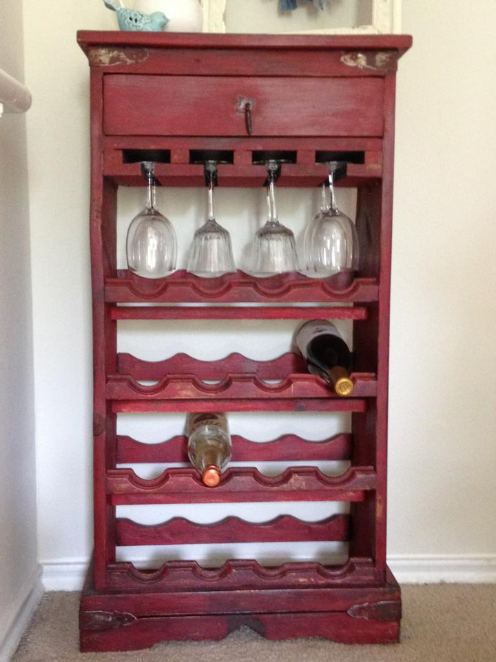 upcycled wine rack