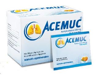 Thuốc ho Acemuc giúp khạc đờm dễ dàng