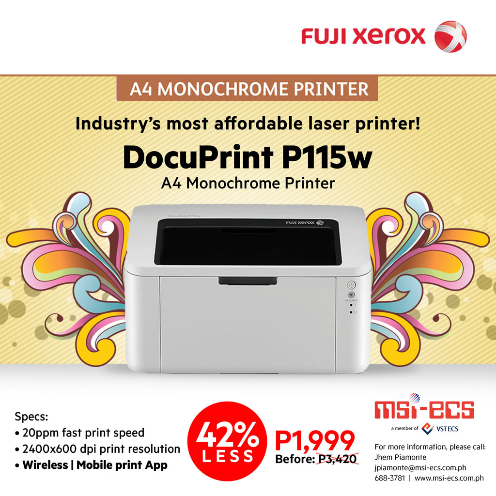 Fuji Xerox DocuPrint P115w on MSI-ECS