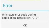 Fix Google Play Store Error Code 919