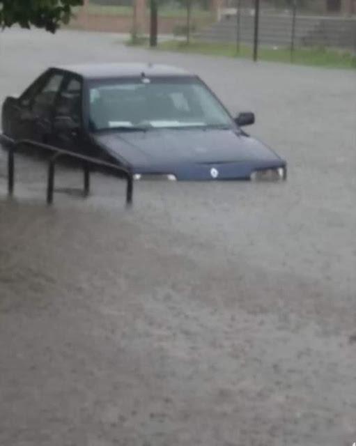 Asistencia y trabajos intensos por el temporal en Pehuajó