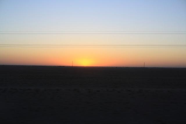 Ouzbékistan, Boukhara, steppe, crépuscule, © L. Gigout, 2010