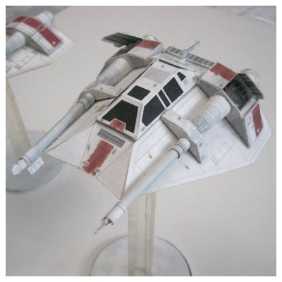 Star Wars Snowspeeder Paper Model