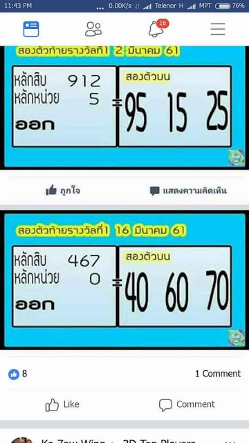 Thailand Lottery Results Today Draw 16 April 2018 - Thailand Bangkok