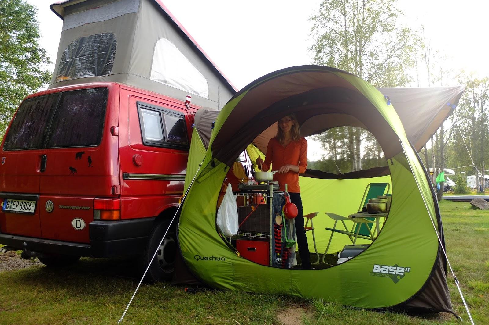 test das quechua wurfzelt pavillon base seconds als vorzelt f r den campingbus