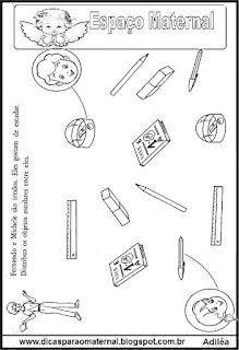 Atividade para período preparatório maternal