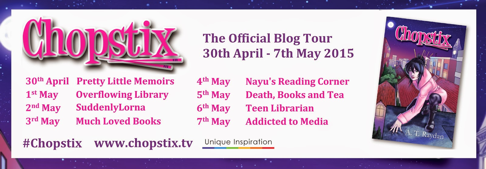 "Blog Tour: ""Chopstix"" by A. T. Raydan"