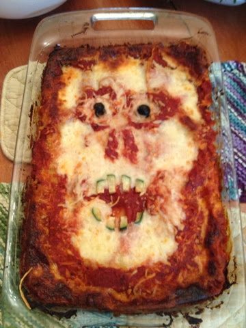 Halloween Food Recipe, Scary Halloween Lasagna