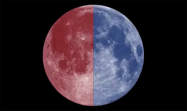 Lua Azul e Lua Vermelha