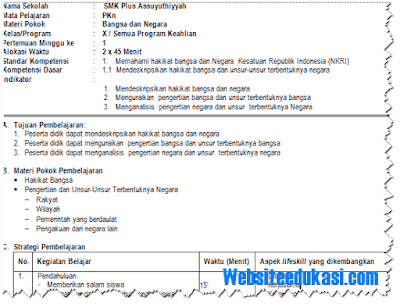 Silabus dan RPP SMK Kelas 10, 11, 12 Kurikulum 2013 Revisi