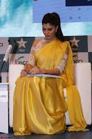 Gorgeous Jacqueline Fernandez  in yellow saree 10.JPG