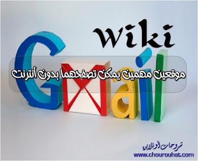 موقعين مهمين يمكن تصفحهما بدون أنترنت ( Wikipédia Gmail )