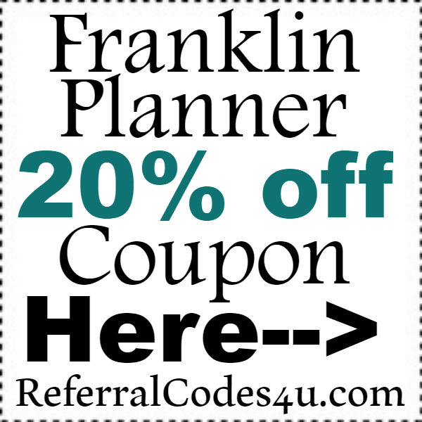 Franklin Planner Discount Code 2016-2017, Franklin Planner Coupons October, November, December