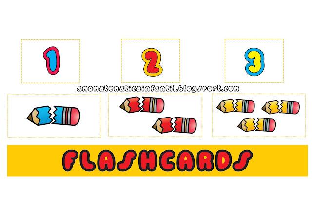 Cartões rápidos para pareamento de número e quantidade