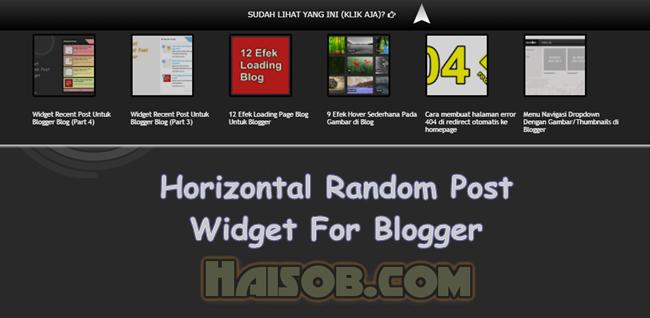 Horizontal Random Posts Widget For Blogger