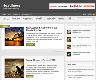 Headlines Blogger Template