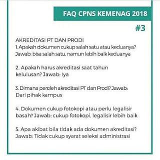 Tanya Jawab Seputar Pendaftaran CPNS Kemenag