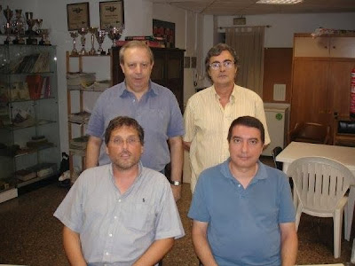 Los ajedrecistas del Club Ajedrez Tarragona Carmelo Fernández, Carles Moreno, Estanislau Gilabert y Joan Manuel Martí
