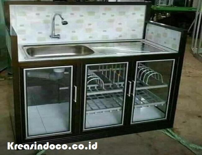 Rak  Piring  Aluminium  Berikut Cuci  Piringnya Kreasindoco