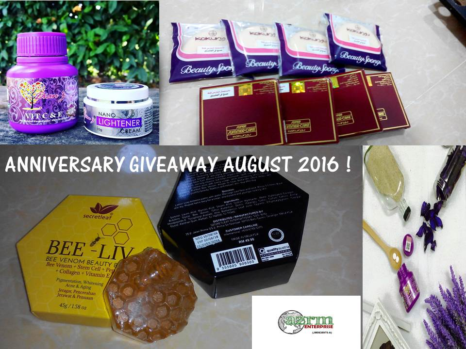 AUGUST ANNIVERSARY GIVEAWAY!