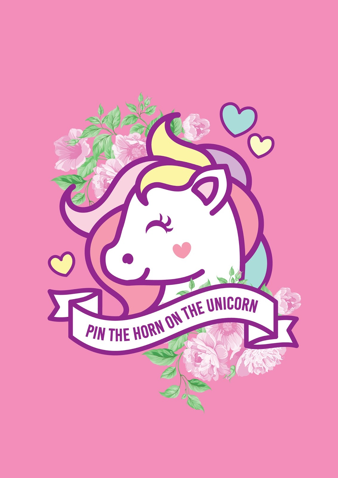 image about Free Printable Unicorn referred to as Cost-free Printable Pin the Horn in direction of the Unicorn Recreation. - Oh My