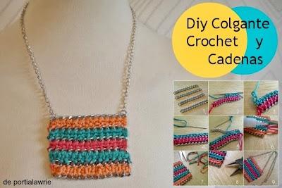 Como hacer 2 Collares de Crochet y Cadenas