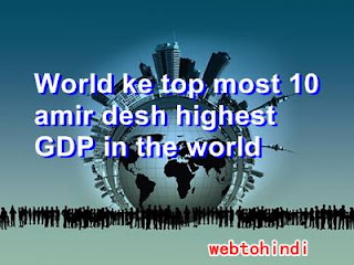 World ke top most #10 amir desh highest GDP in the world