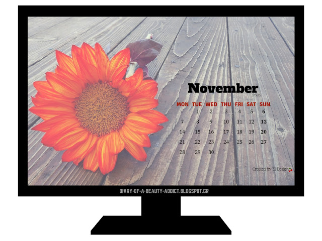 FREE November 2016 Desktop Wallpaper Calendar
