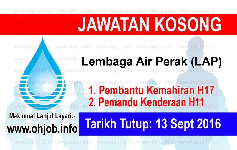 Jawatan Kerja Kosong Lembaga Air Perak (LAP) logo www.ohjob.info september 2016