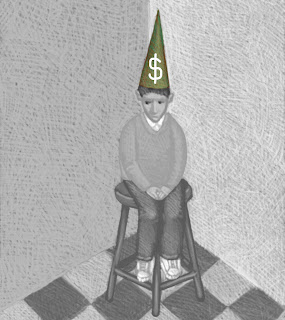 Money Dunce In Corner