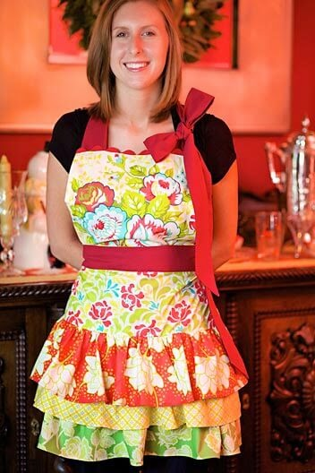 Free Citrus Holiday Apron, Sew 4 Home