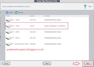 Select name flash disk