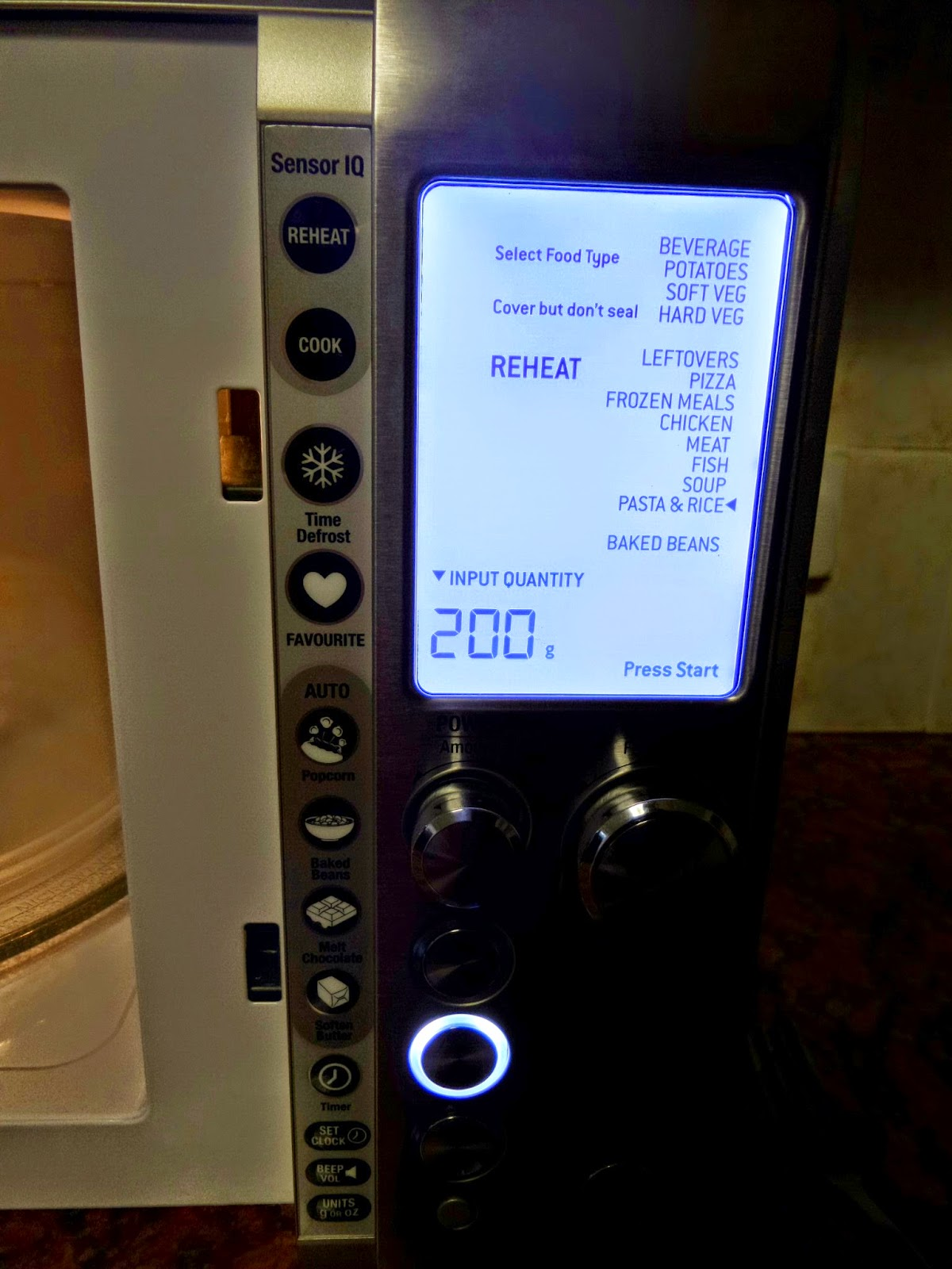 Different functions of the Sage One Touch Microwave by Heston Blumenthal