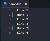 how to commit only part's of changes of a file into GIT   an