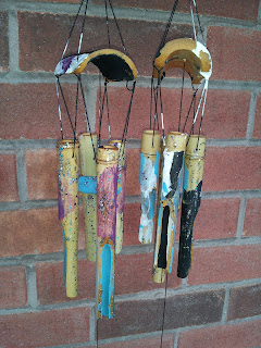 Garden Windchime Craft, kids craft, kids activitiy, outdoor activity, backyard, summer