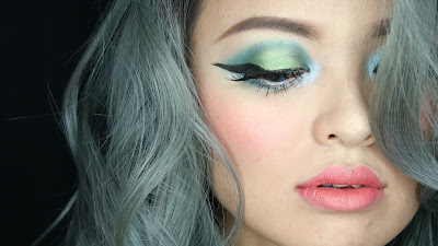Sparkling Green New Year's Eve make up