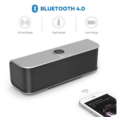 Bluetooth Speakers, TaoTronics Stereo 20W Wireless - best-galaxy-s7-edge-accessories-deals-black-friday