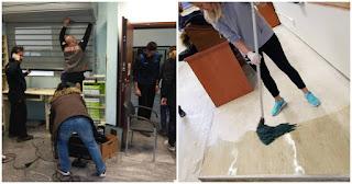 Φοιτητές της Θεολογικής Σχολής στο ΑΠΘ καθάρισαν τους χώρους που διέλυσαν οι κουκουλοφόροι