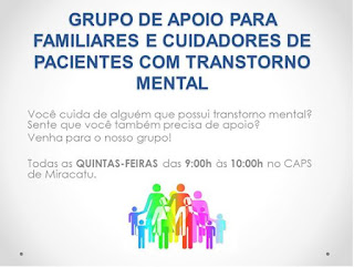 Prefeitura disponibiliza grupo de apoio para familiares de pacientes com transtorno mental