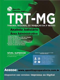 Apostila TRT-MG Impressa Analista Judiciário 512 paginas