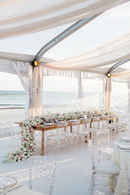 Idyllic Tables and Weddings on The Beach 3
